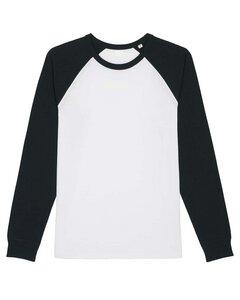 Langarmshirt für Damen und Herren mit abgesetzten Ärmeln, Longsleeve, Unisex - YTWOO