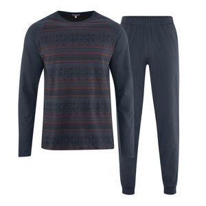 Living Crafts Herren Schlafanzug Heiko reine Bio-Baumwolle - Living Crafts