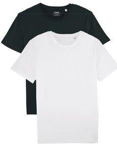 2er Pack Basic T-Shirt Schwarz/Weiß für Damen und Herren, Mehrfachpack, Unisex - YTWOO