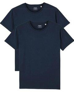 2er Pack Basic T-Shirt für Damen und Herren, Mehrfachpack, Unisex - YTWOO