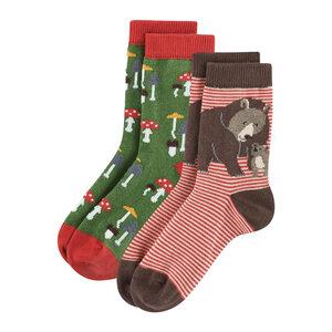 Living Crafts Kinder Socken Bear 2er-Pack Bio-Baumwolle - Living Crafts