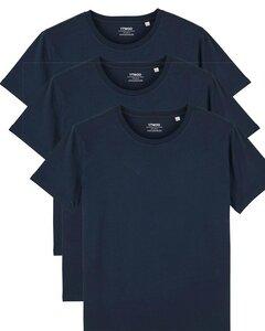 3er Pack Basic T-Shirt für Damen und Herren, Mehrfachpack, Unisex - YTWOO