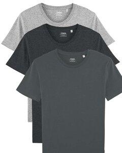 3er Pack Basic T-Shirt für Damen und Herren, 3 Farben Mehrfachpack, Unisex - YTWOO