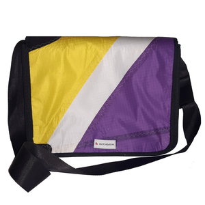 Messenger bag Size S hergestellt aus gebrauchten Kites UNIKAT - Beachbreak