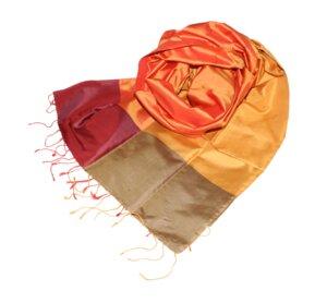 FLAVIA Edler Schal aus handgewebter Seide - Schönes aus Indochina