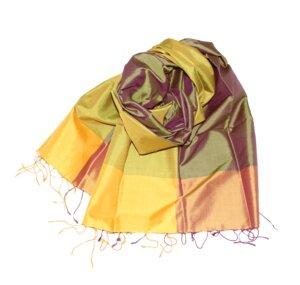 LIANE Edler Schal aus handgewebter Seide - Schönes aus Indochina