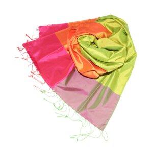 MAXIMA Edler Schal aus handgewebter Seide - Schönes aus Indochina