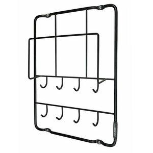 Post- und Schlüsselbrett schwarz aus Stahldraht - Puhlmann