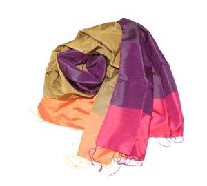 PHILIPPA Edler Schal aus handgewebter Seide - Schönes aus Indochina