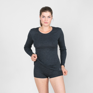 fine - thermo langarmshirt aus 75% baumwolle (kbA) und 25% polyester (recycelt) - erlich textil