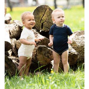 Baby Body Kurzarm Bio-Baumwolle - Engel natur