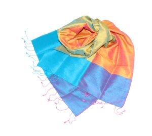 AMALFI Edler Schal aus handgewebter Seide - Schönes aus Indochina