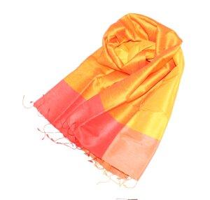 AURORA Edler Schal aus handgewebter Seide - Schönes aus Indochina