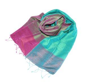 PRISCILLA Edler Schal aus handgewebter Seide - Schönes aus Indochina