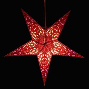 Weihnachtsstern aus Papier Ø60 cm - inkl. Beleuchtungsset - Ganesha - MoreThanHip