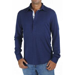 Langarm-Polo-T-Shirt mit 2 Knöpfen an den Manschetten, Biologische Pima Baumwolle - B.e Quality