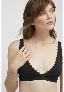 BH - Lace Trim Triangle Bra - People Tree