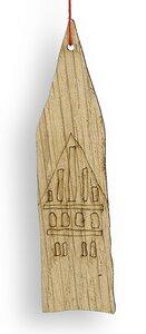 Weihnachtsanhänger aus Eichen Holz: TURM - Livendor