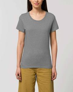 Basic T-Shirt Damen meliert, Bio-Baumwolle, enganliegend, XS-2XL - YTWOO