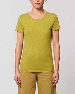 Basic T-Shirt Damen meliert, Bio-Baumwolle, viele Farben, XS-2XL - YTWOO