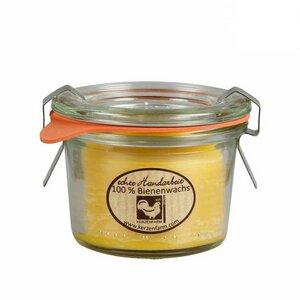 Bienenwachskerze im Weckglas 4 versch. Größen - Kerzenfarm Hahn