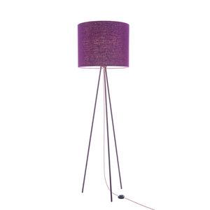 Stehleuchte Tripod Linum LILA aus Stahl und Leinen - verschiedene Schirme - lumbono