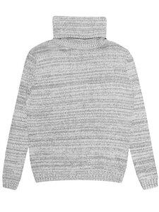 Knit Rollkragen grau stricken Damen - Will's Vegan Shop