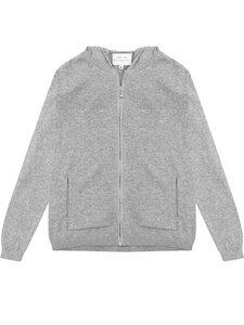Lounge Knit Hoodie grau stricken Damen - Will's Vegan Shop