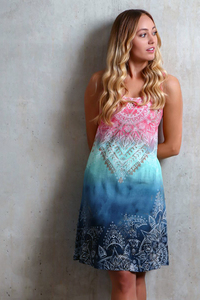 Sommerkleid indigo/peach - The Spirit of OM