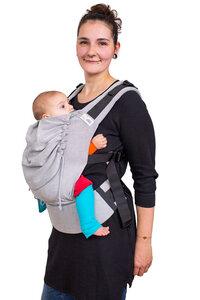 Babytrage Mr. X in 2 Größen ab Geburt / Kleinkind ab 80 cm - Pur Grey - Madame Jordan