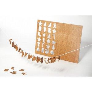 Zedernholzkarte 24 Adventsmotive - Formes