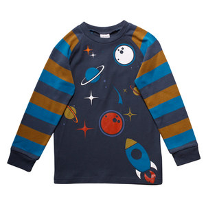 Baby und Kinder Langarm-Shirt Space  - Fred's World by Green Cotton