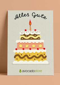 Wunschbetrag Gutschein ab 10€ - Alles Gute - gelb - Avocado Store
