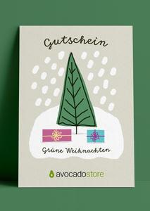 Wunschbetrag Gutschein ab 10€ - Grüne Weihnacht - Avocado Store