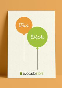 Wunschbetrag Gutschein ab 10€ - Ballons  - Avocado Store