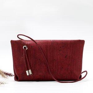 Kleine rote TASCHE // Sling Bag // Korktextil - Belaine Manufaktur