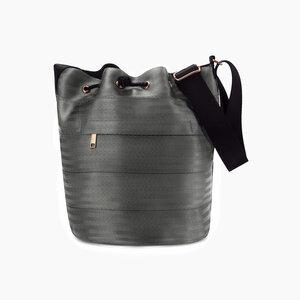 Balsam Bucket Bag vegane Tasche aus recycelten Sitzgurten - Paguro Upcycle