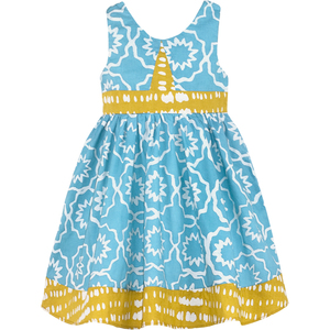 Bio Twirl Kleid - Chroma - Himmelblau - Global Mamas