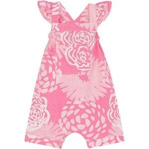 Baby Strampler - Blumen - Bio Baumwolle - Pink - Global Mamas