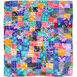 Upcycling Patchwork Überwurf & Decke - Bunt - Global Mamas