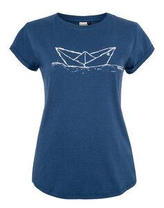 Paperboat Organic Women Shirt _ white/saragossa blue/ ILK02 - ilovemixtapes