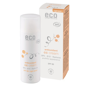ECO CC Creme LSF 50 hell getönt mit OPC, Q10 und Hyaluron - eco cosmetics