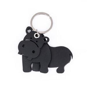 Hippo veganer Schlüsselring aus recyceltem Kautschuk - Paguro Upcycle