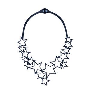 Star vegane Halskette aus recyceltem Kautschuk - Paguro Upcycle
