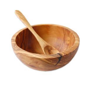 Müslischale Ø 14 cm aus Olivenholz inkl. Löffel - Olivenholz erleben