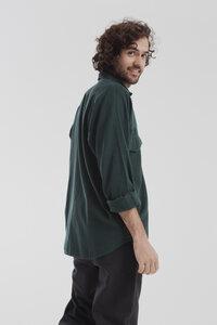 Hemd - Scarab Green Santi Shirt - Grün  - thinking mu