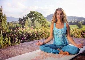 Yogamatte aus Schurwolle - The Spirit of OM