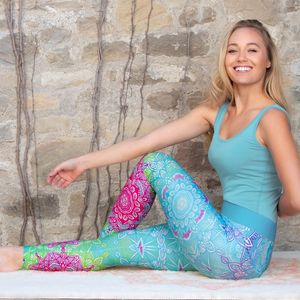 Yoga-Legging karibik-blue - The Spirit of OM