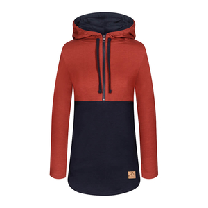 Mountain Active Lyocell (TENCEL) Hoody Ladies Red | Navy - bleed