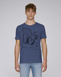 """faircato Herren-Shirt """"Eurasisches Eichhörnchen"""" Sciurus vulgaris in Indigo - faircato"""
